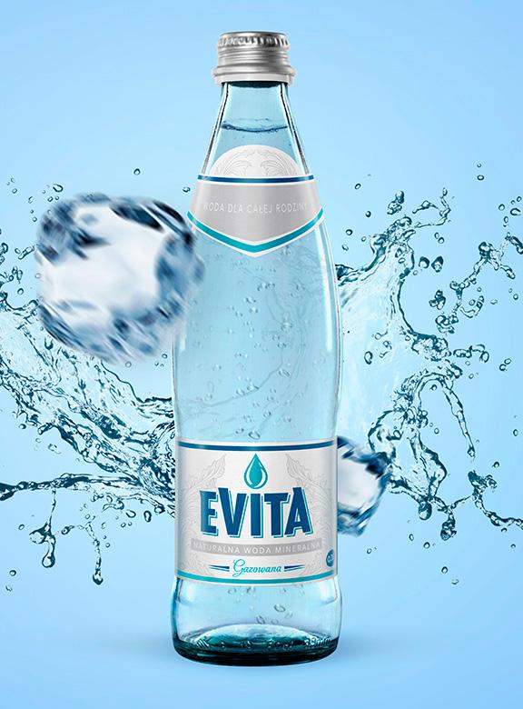 projekt etykiety woda EVITA